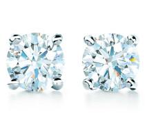 Tiffany Solitaire Diamantohrringe in Platin