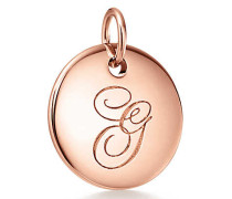 Tiffany Charms Alphabet Charm in 18K Roségold
