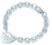 Return to Tiffany™ Armband mit Herzanhänger in Sterlingsilber
