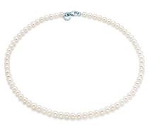 Halskette aus Süßwasserzuchtperlen mit Sterlingsilberverschluss