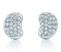 Elsa Peretti® Bean Design Ohrringe in Platin mit Diamanten
