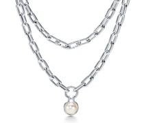 Tiffany City HardWear Halskette mit Süßwasserperlen in Sterlingsilber