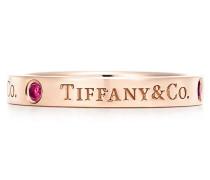 Tiffany & Co® Bandring in 18 Karat Roségold mit Rubinen