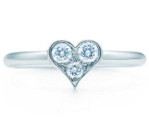 Tiffany Hearts® Ring aus Platin mit Diamanten