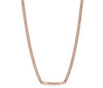 Tiffany & Co® schmale Gliederhalskette in 18K Roségold mit Diamanten