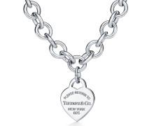 Return to Tiffany™ Halskette mit Herzanhänger in Sterlingsilber