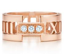 Atlas® offener Ring in 18 Karat Roségold mit Diamanten