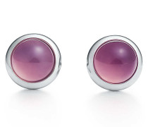 Elsa Peretti® Color by the Yard Ohrringe in Silber mit violettem Chalcedon