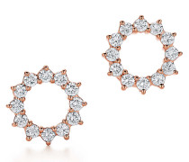 Open Circle Ohrringe in 18 Karat Roségold mit Diamanten
