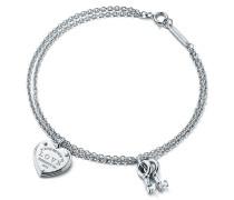 Armband mit Schlüssel und Love