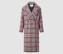 Karierter Mantel mit übergroßem Revers