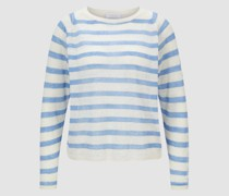 Gestreifter Pullover aus Leinen