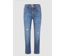 Vintage Straight Jeans mit Passe