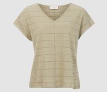 Striped Linen Lurex Shirt