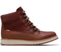 Braune Wasserdichte Leder Und Suede Mesa Stiefel