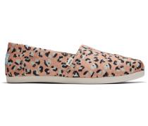 Schuhe Lachsfarbene Leopard Print Classics