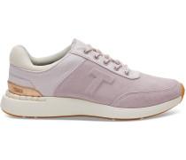 Schuhe Lila Suede Und Canvas Arroyo Sneaker