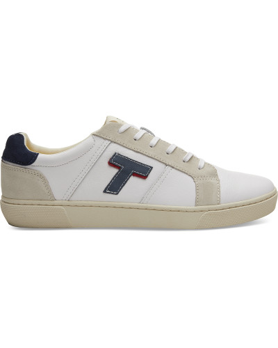 Schuhe Weisse Leder Leandro Sneaker