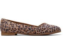 Schuhe Leopard Suede Julie Ballerinas