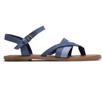 Blaue Denim Lexie Sandalen