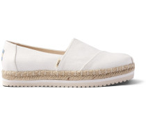 Schuhe Weiße Canvas Plateau Alpargatas