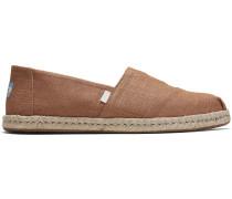 Schuhe Braune Leinen Espadrilles