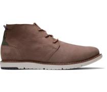 Schuhe Zederbraune Nubuck Navi Stiefel