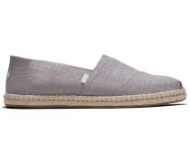 Schuhe Graue Leinen Espadrilles