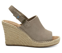 Desert Taupe Suede Monica Wedges