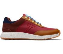 Schuhe Wasserdichte Rote Nylon Und Suede Arroyo Sneakers