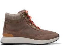 Schuhe Wasserdicht Taupe Gray Nubuck Und Suede Cascada Sneakers