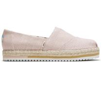 Schuhe Hellrosa Canvas Plateau Alpargata
