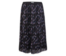 Pleated midi-skirt