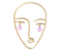 Mono-Ohrring Matisse mit zwei rosa Saphiren