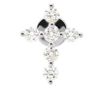 Mono-Ohrring-Piercing mit einem Kreuz