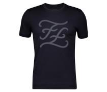 T-Shirt Mit Gothic-Logoprint