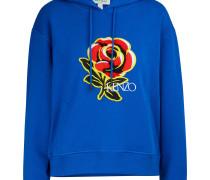 Kapuzensweatshirt mit Blumenprint