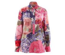 Floral bedrucktes Hemd