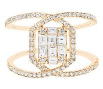 Ring – funkelnd und gekreuzt mit Diamanten
