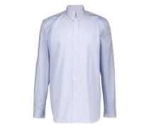 Gestreiftes Hemd mit Aufnäher des Ateliers