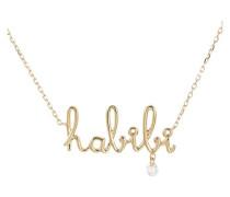 """Halskette Around the Words """"""""Habibi"""""""""""
