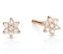 Ohrringe Mini Stern mit Diamanten