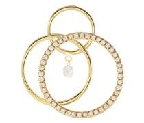 Mono-Ohrring Wirbel mit einem Diamanten