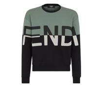Sweatshirt Aus Baumwolle Mehrfarbig