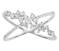 Gekreuzter Ring – Fairytale mit Diamanten
