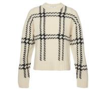 Karierter Oversize-Pullover