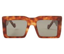 Sonnenbrille mit quadratischem Oversize-Rahmen