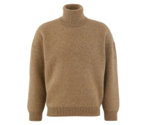 Double-faced virgin wool and cashmere roll-neck jumper