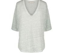 Leinen-T-Shirt Neil mit V-Ausschnitt