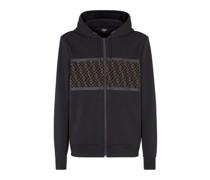 Sweatshirt Aus Baumwolle In Schwarz